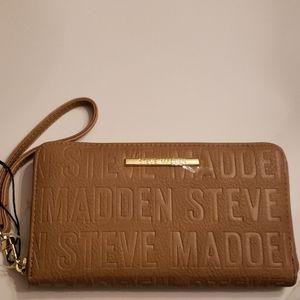 Steve Madden Nwot Tan Wallet Wristlet